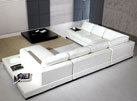 White sectional Arabella