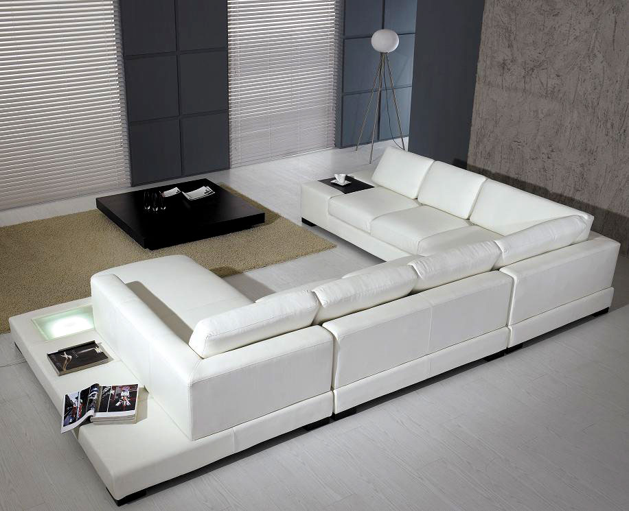 White Sectional Arabella Sectionals