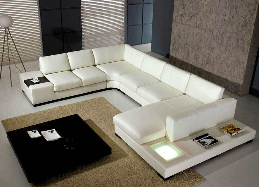 White sectional Arabella | Sectionals