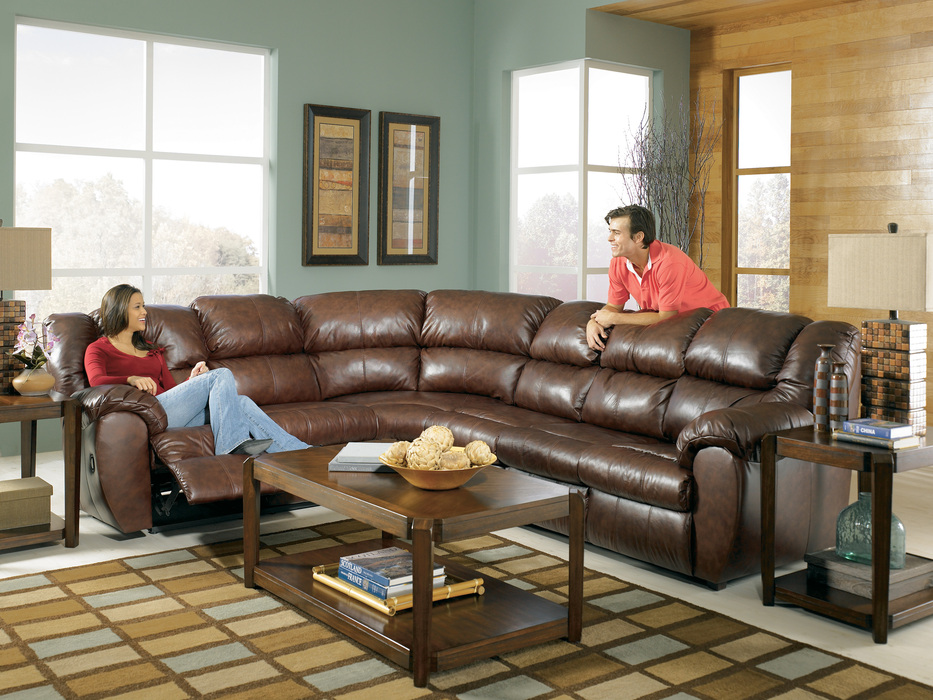 Saddle sectional for Affordable furniture 3 piece sectional in wyoming saddle