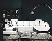 Leather Sectional sofa Modern Contemporary Art Deco 57