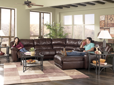 Braxton Java 5 Piece Reclining Sectional Sofa