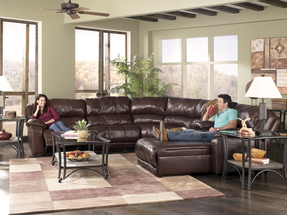 Sectional Couches With Recliners braxton java 5 piece reclining sectional sofa | sectionals