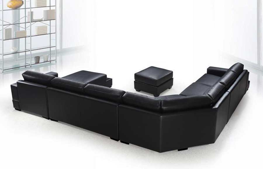 VG-RZ Modern Black Sectional Sofa | Sectionals