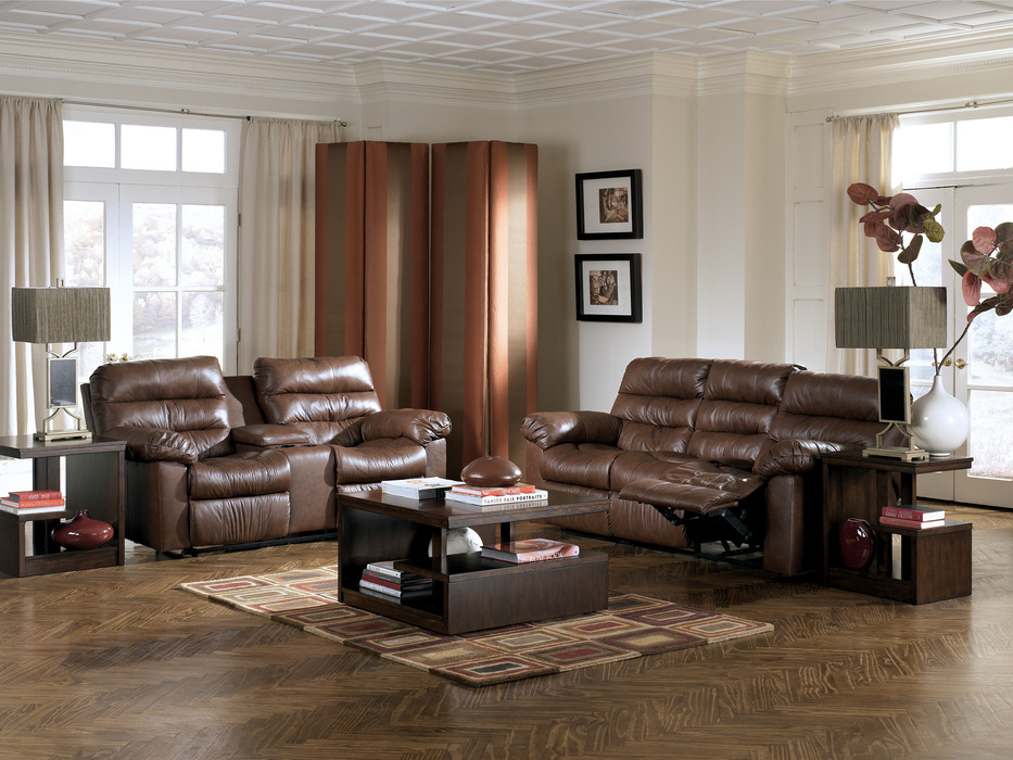 Memphis Brown Reclining Sofa Loveseat And Power Recliner