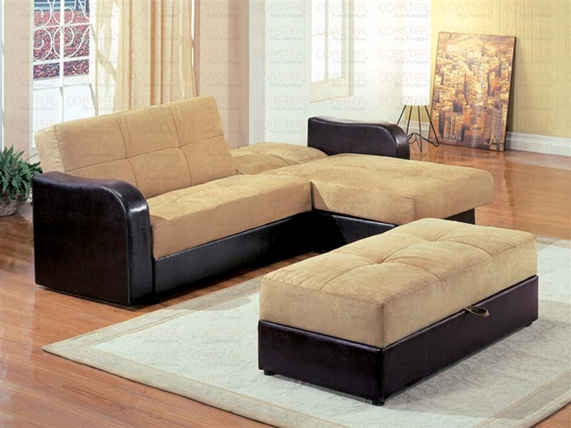 Tan Microfiber Sectional Set Sectionals