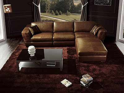 Brown sectional sofa 45