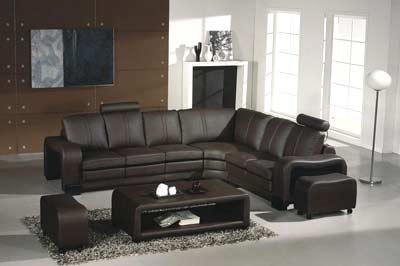 Sectional leather sofa Espresso 9 | Sectionals