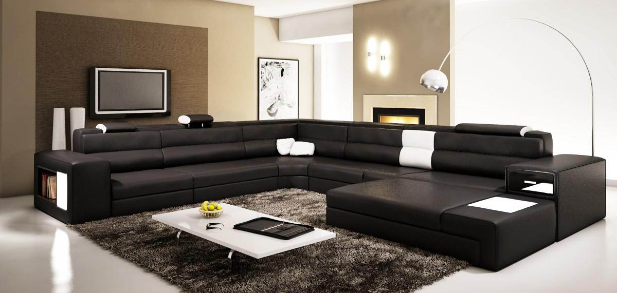 ... Rexona Brown leather sectional sofa ... : all leather sectionals - Sectionals, Sofas & Couches