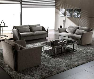 Grey Modern Contemporary Fabric Sofa Set Vg Vip Sofas