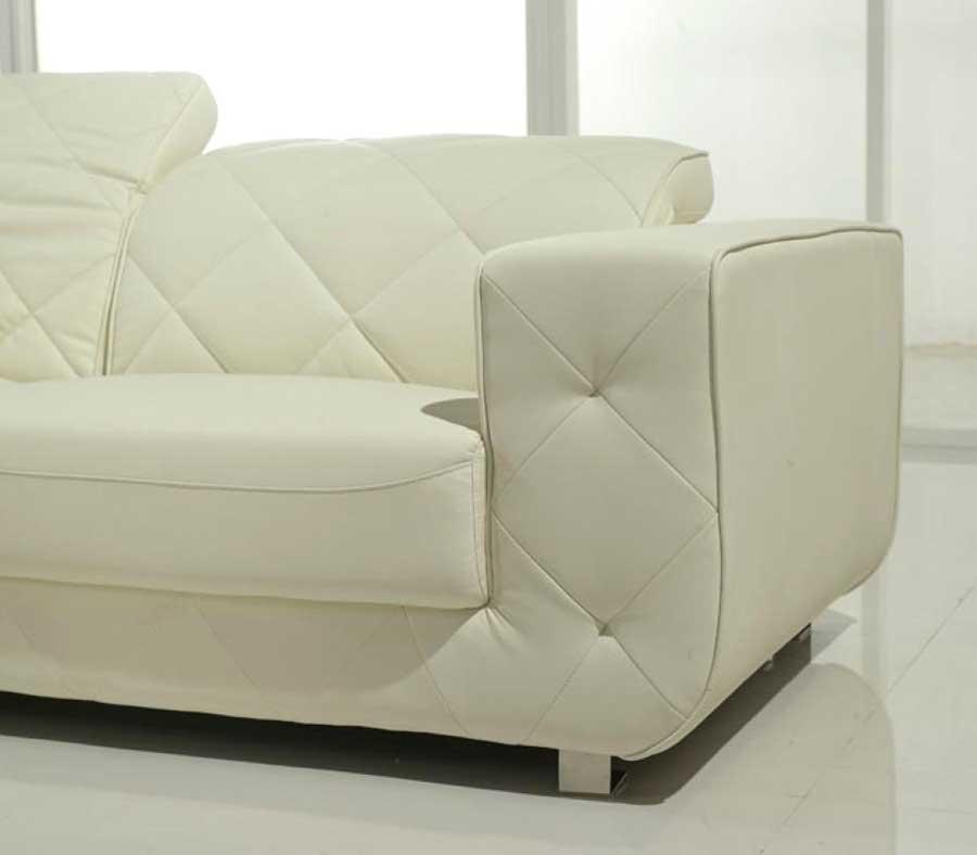 white sectional sofa v