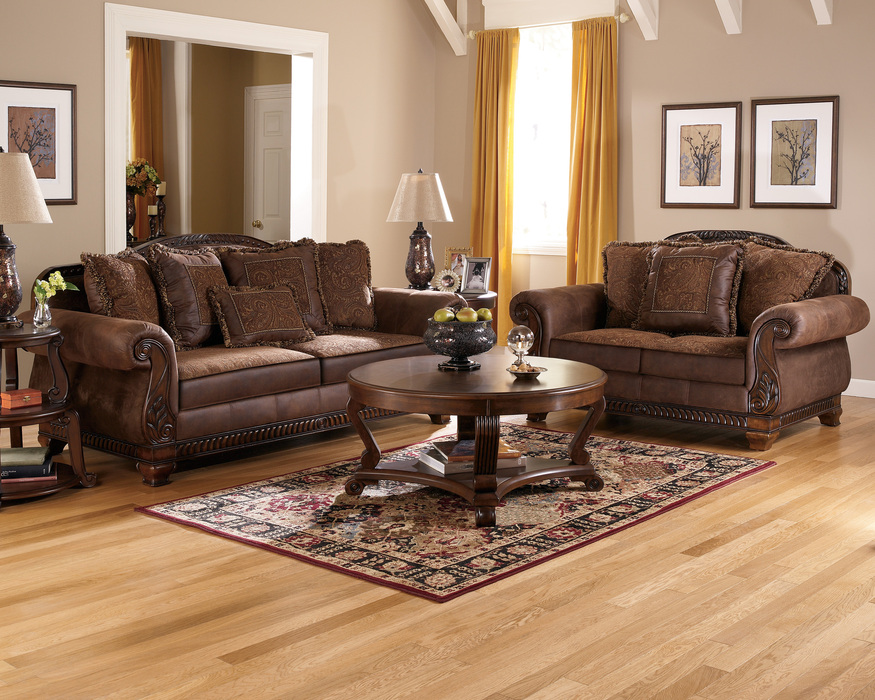 Beau Bradington Truffle Sofa, Loveseat And Accent Chair Set