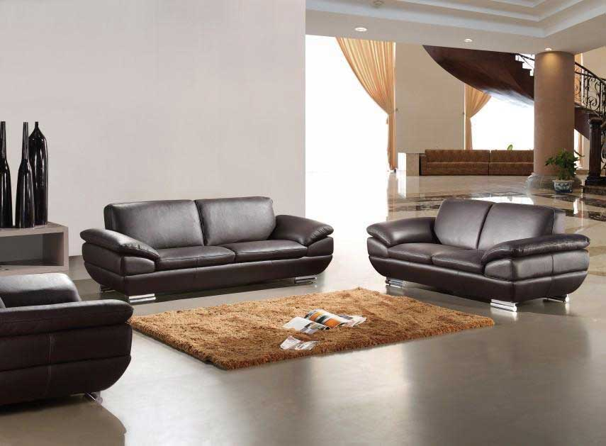 Italian Leather sofa set 269  Sofas