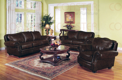 Willson bonded leather living room set sofas for Leather couch family room