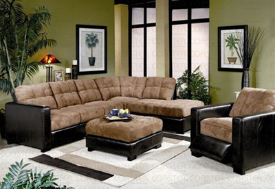 Helly  Beach Collection Microfiber Sectional Set