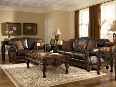 North shore loveseat loveseats for Ashley furniture room planner