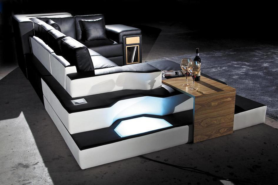 Amazing Leather Black White Sofa Sectional 14 Sectionals Short Links Chair Design For Home Short Linksinfo