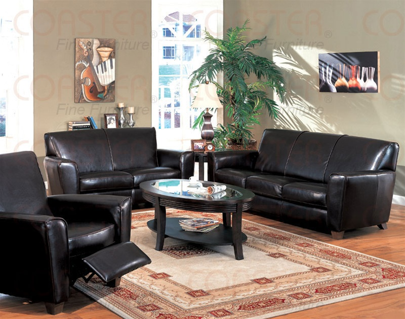Havana Collection Leather Living Room Group Sofas