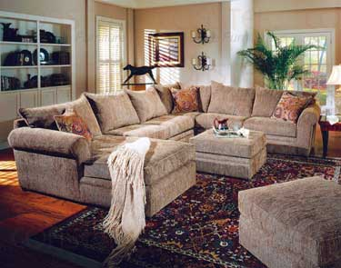 Woodwest Collection Fabric Sectional Set