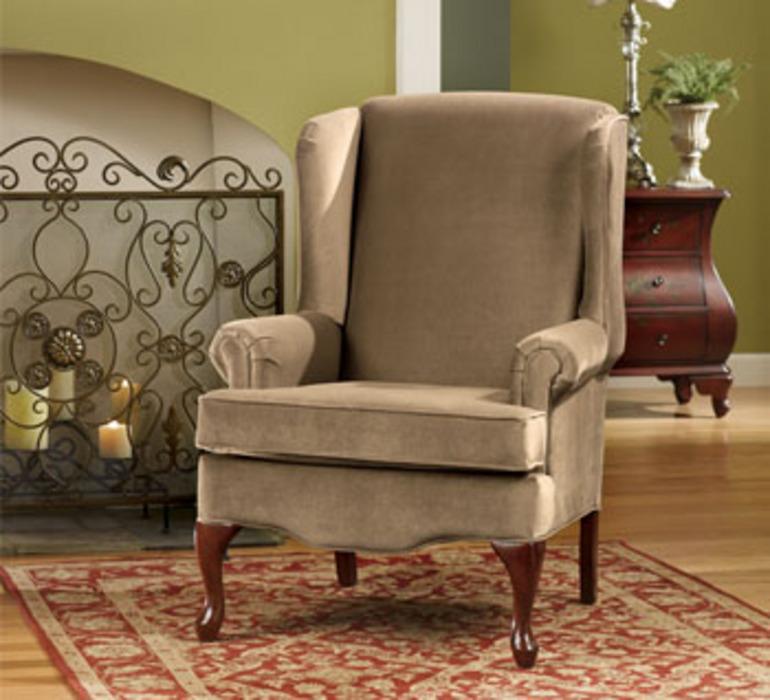 Buckingham Mocha Queen Anne Chair