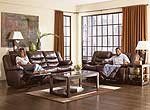 Revolution Burgundy Reclining Sofa, Loveseat and Glider Recliner Set
