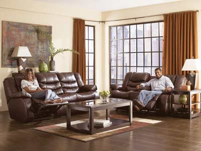 Burgundy Leather Sofa on Burgundy Reclining Sofa  Loveseat And Glider Recliner Set   Sofas