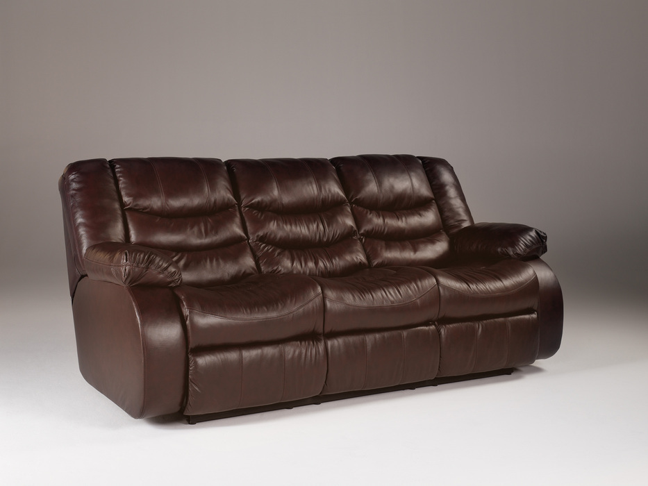 Revolution burgundy reclining sofa loveseat and glider Reclining leather sofa and loveseat
