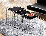 Nesting Table set z-106 with Clear Glass Top