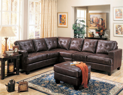 Samu  Collection Leather Sectional