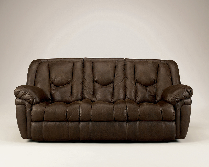 Blake Walnut Reclining Loveseat Loveseats