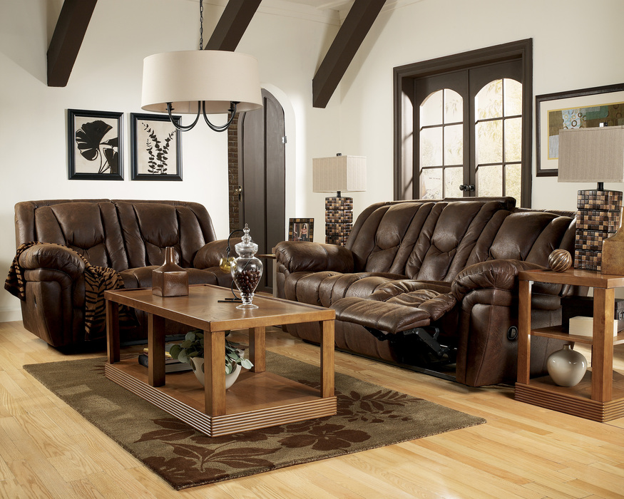 Blake Walnut Reclining Sofa Loveseat And Rocker Recliner Set