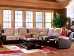 Halsey Collection Microfiber Sectional Set