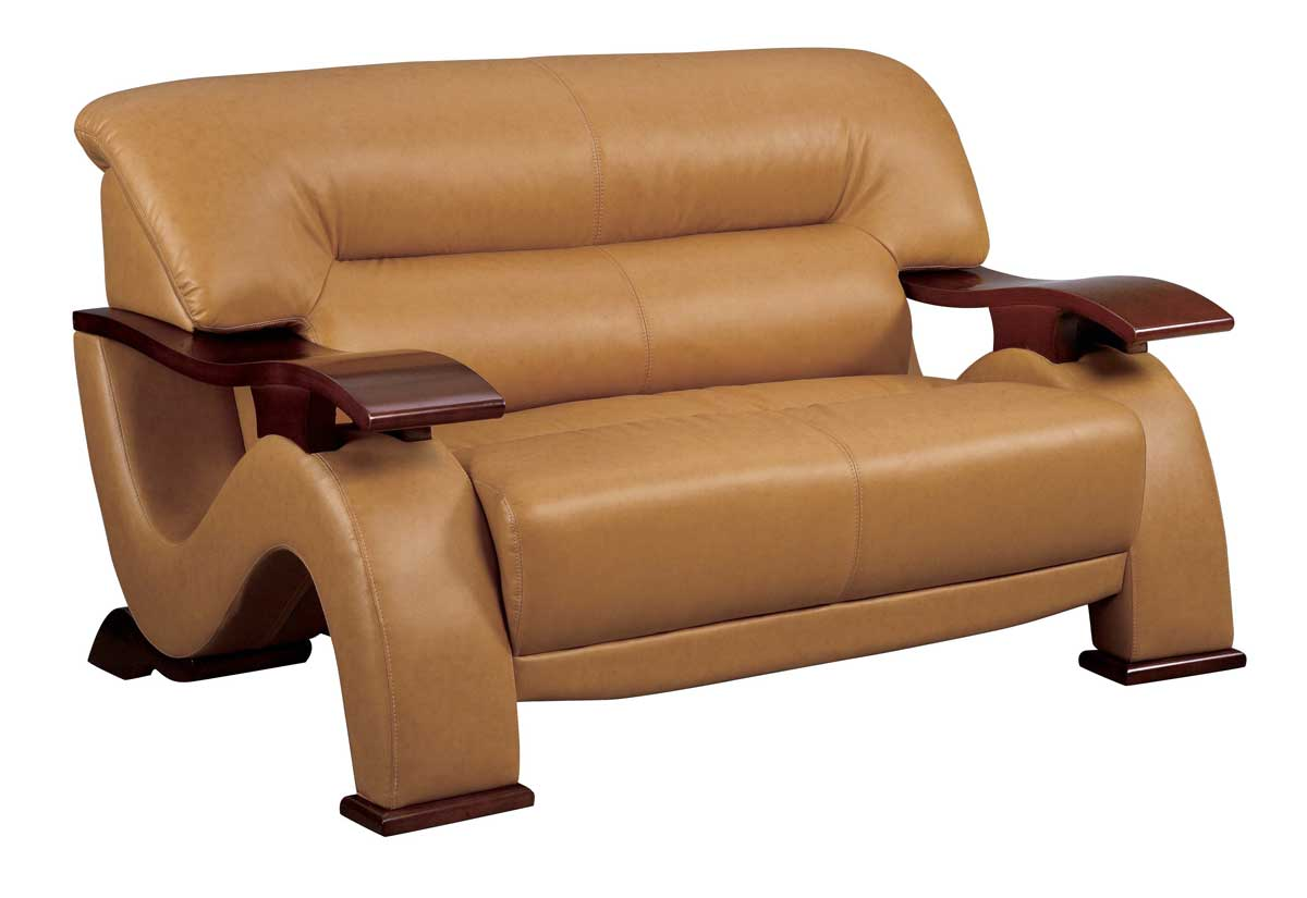 Gl Love Seat Brown Leatherette Loveseats