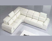 Leather White Sectional Sofa VG 62
