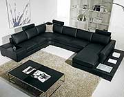 Black sectional Arabella
