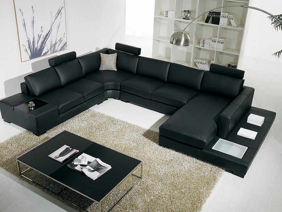 Attractive Black Sectional Arabella