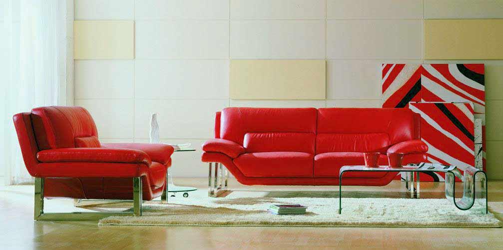red nicole leather sofa set sofas