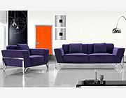 Fabric Purple Sofa Set VG Vogue