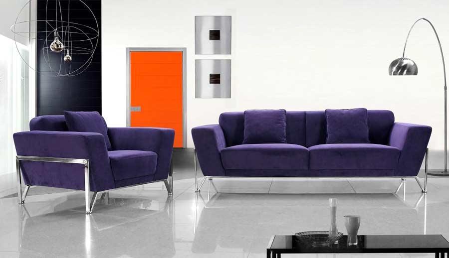 Fabric Purple Sofa Set Vg Vogue Sofas