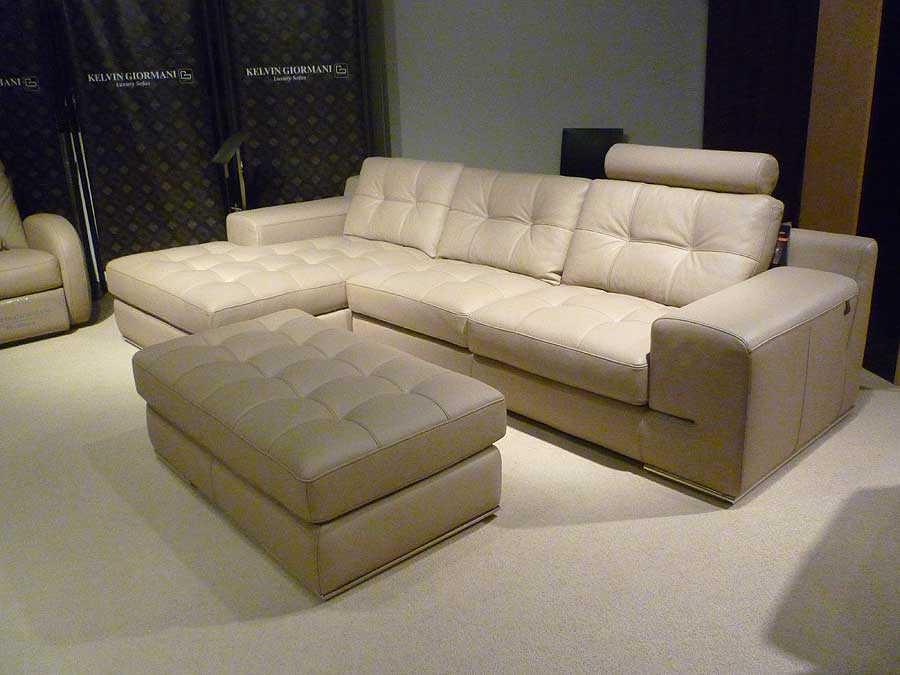 fiore sofa sectional leather beige sectionals. Black Bedroom Furniture Sets. Home Design Ideas