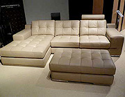 Fiore Sofa Sectional Italian Leather - Beige