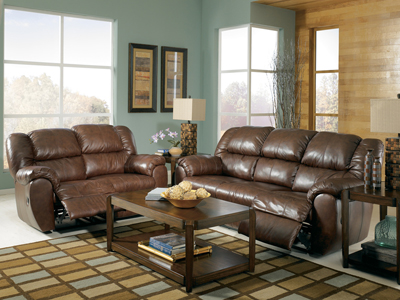 Sonoma Saddle Reclining Sofa, Loveseat and Rocker Recliner Set