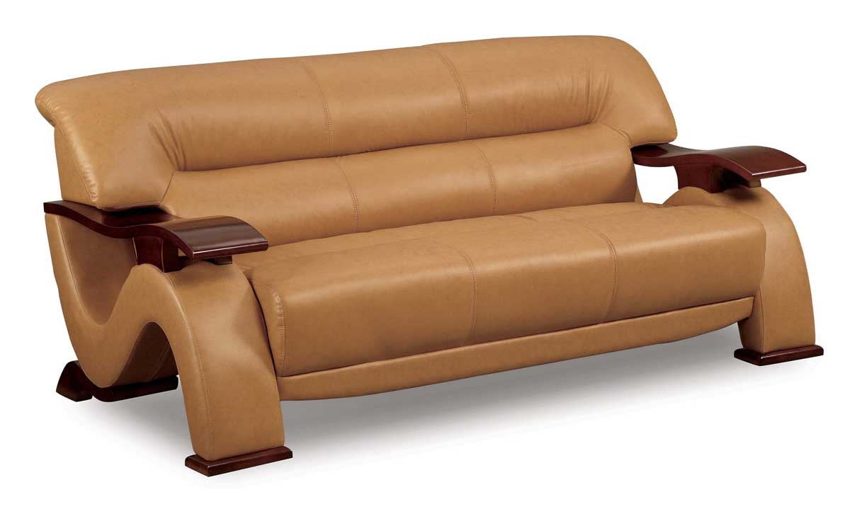 GL Sofa Brown Leatherette